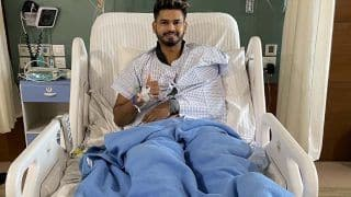 Shreyas iyer shares picture after surgery says he will be back in the field on time 4568197
