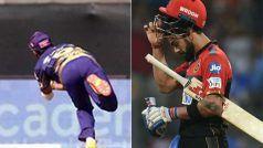 Indian Premier League 2021, RCB vs KKR: गेंद के पीछे हवाई छलांग लगाकर राहुल त्रिपाठी ने पकड़ा विराट कोहली का कैच, देखें VIDEO