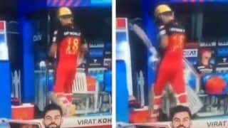 Virat Kohli Reprimanded For Hitting Chair After Dismissal During SRH-RCB IPL 2021 Game, Accepts Code of Conduct Breach in IPL 2021