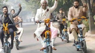 Eco-friendly Wedding: Baraat on Yulu Bikes, Tulsi Varmalas... Delhi Couple Gets Hitched in Unique Fashion | See PICS