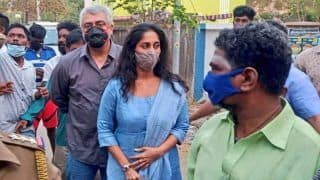 Video Shows Thala Ajith Snatching A Fan's Phone At Chennai Polling Booth