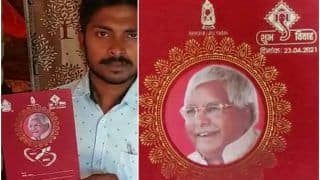 Bihar Groom Puts Lalu Prasad Yadav's Photo on Wedding Card, Appeals For His Release | See Pics