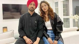 Diljit Dosanjh Finally Poses With Shehnaaz Gill After Wrapping up Their Film Honsla Rakh - See Viral Photo