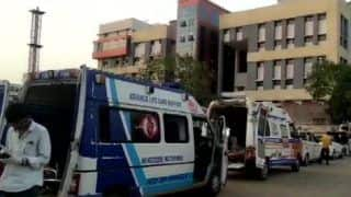 Amid Bed Shortage in Gujarat, Ambulances Spotted in Long Queues Outside Rajkot Hospital