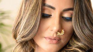Hina Khan Gorgeous Pics: कजरारे नैना में बला की खूबसूरत लगीं हिना खान, ज़ालिम नाक की नथ ने दिल चीर दिया