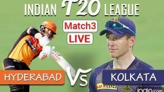 Live IPL 2021 Score And Updates SRH vs KKR: Hyderabad And Kolkata Engage in Battle of Overseas Captains