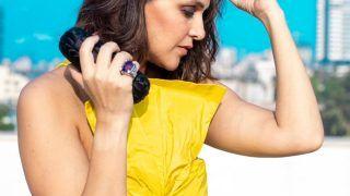 Neha Dhupia Slays Summer Fashion In Rs 40,000 Chic Gold-Yellow Ensemble
