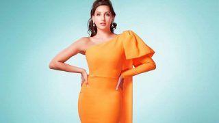 Nora Fatehi ने संतरी रंग के गाउन में मचाया बवाल, लगता है आज रात फिर नींद नहीं आएगी