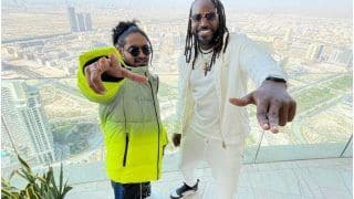 Chris gayle jamaica to india music video released gayle video with emiway bantai viral on social media ipl 2021 4576421