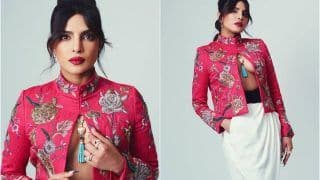 Priyanka Chopra Jonas Wears Dhoti Pants With Open Jacket at BAFTAs - See Viral Photos