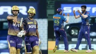 Live KKR vs MI IPL 2021 Live Cricket Score And Today's Match Updates: Mumbai Indians Look to Bounce Back Against High-Flying Kolkata