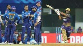 IPL 2021 Points Table After KKR vs MI Match 5: Mumbai Indians Climb to Second Spot; Nitish Rana Bags Orange Cap, Andre Russell Grabs Purple