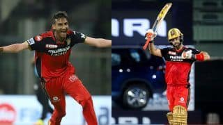 IPL 2021: Shahbaz Ahmed, Glenn Maxwell Inspire Royal Challengers Bangalore to 6-Run Win Over Sunrisers Hyderabad