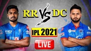 Live RR vs DC IPL 2021 Live Cricket Score And Today's Match Updates: Rajasthan Royals Look to Bounce Back Against High-Flying Delhi Capitals