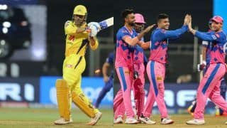 Live Cricket Score and Updates IPL 2021 CSK vs RR: Dhoni's Chennai Look to Continue Winning Momentum Against Rajasthan