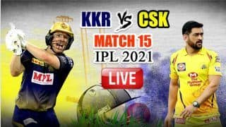 LIVE KKR vs CSK IPL 2021 Live Cricket Score And Updates: Dhoni's Chennai Look to Complete Hat-Trick Against Dejected Knight Riders