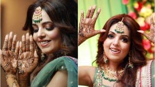 Sugandha Mishra-Sanket Bhosle to Get Married Today in Jalandhar: Bride Shares Gorgeous Pics From Mehendi