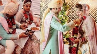 Sugandha Mishra-Sanket Bhosle Look Dreamy in First Picture From Wedding | See Pics