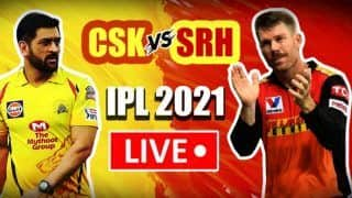 Live CSK vs SRH IPL 2021 Live Cricket Score And Updates: Sunrisers Hyderabad Look to Bounce Back Against Dhoni's Chennai