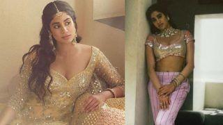 Janhvi Kapoor ने मोनोकिनी के बाद लहंगे में बढ़ाया इंटरनेट का पारा, ब्राइडल लुक हुआ VIRAL- Pics