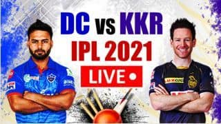 Live DC vs KKR IPL 2021 Live Cricket Score And Updates: Rishabh Pant's Delhi Look to Bounce Back Against Inconsistent Kolkata