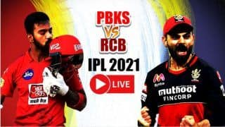 Live PBKS vs RCB IPL 2021 Live Cricket Score And Updates: Punjab Kings in Desperate Search of Win Against High-Flying Bangalore