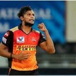 SRH Pacer T. Natarajan Ruled Out of IPL 2021 With Injury: Report