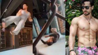 Tiger Shroff ने मारा ऐसा स्टंट...ट्रेनर की हो गई हालत ख़राब, धड़ाम से गिरा जमीन पर, खुद देखिए नज़ारा-VIDEO