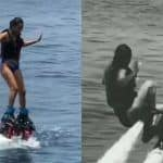 Nia Sharma Has An Epic Fall As She Tries Water Sports Jet Blading At Beach Destination | WATCH