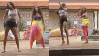 Janhvi Kapoor Once Again Grooves To Cardi B Song 'Up' By The Poolside, Looks Hot in Crop Top And Shorts | WATCH