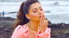 Urvashi Rautela को किस पर इतना प्यार आया? आंखें की बंद और  Kiss हवा में उड़ा दिया