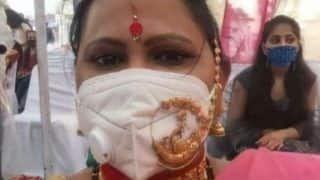 Woman Wears Gold 'Nath' on Top of Mask, Ultimate 'Jewellery Jugaad' Amuses The Internet | See Pic