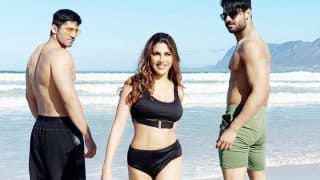 Nikki Tamboli Bowls Over Fans With Her Stunning Black Bikini Look As She Poses With Her 'Own Desi Boys'