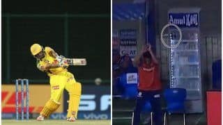 Ambati Rayudu's Six Breaks Fridge in Mumbai Indians Dugout During CSK vs MI IPL 2021 Match, Video Goes Viral | WATCH