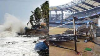 How Cyclone Tauktae Smashed The Sightscreens at Wankhede Stadium, BKC | VIRAL PIC