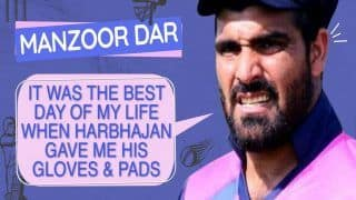 It Was The Best Day of My Life, Says Manzoor Dar On Meeting Harbhajan Singh