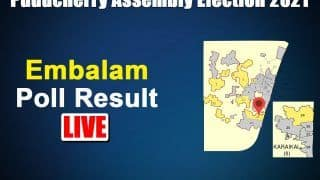 Embalam (Puducherry) Election Result 2021: U Lakshmikandhan of AINRC Wins by 2,240 Votes