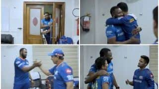 Kieron Pollard's Rousing Reaction on Entering Dressing Room After Mumbai Indians Beat Chennai Super Kings in IPL 2021 Game Goes Viral | WATCH VIDEO