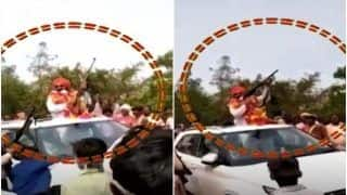Husband Fires Celebratory Shots After Wife Wins Post of Pradhan in UP Panchayat Elections   Watch