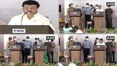 Tamil Nadu CM Oath: एमके स्टालिन ने 33 मंत्रियों के साथ ली तमिलनाडु के सीएम के पद की शपथ
