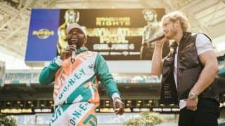Video Captures Floyd Mayweather Threatening to Kill Jake Paul During Exhibition Promotion | Watch