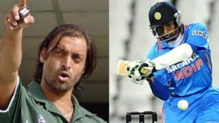 Shoaib akhtar to robin uthappa if you walked out and hit me today you might get a beamer at your head 4667861