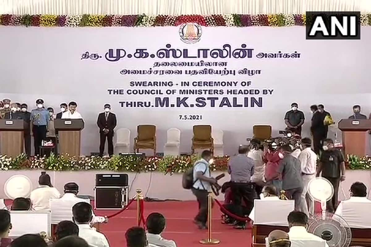 MK Stalin Is New Tamil Nadu CM; Nehru, Gandhi Sworn-In As His Ministers