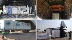 Covid-19 Crisis: सबसे विशाल कार्गो प्लेन में UK से ऑक्सीजन जनरेटर, वेंटिलेटर्स की बड़ी खेप भारत आई