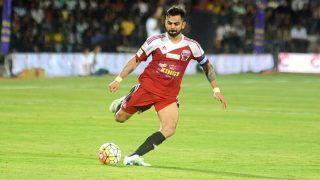 Watch Virat Kohli Hits Crossbar With Astonishing Kick