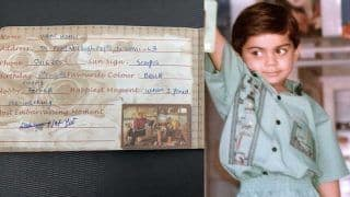 PIC | Kohli's OLD Slam Book From School Days Goes Viral