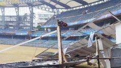 Tauktae Cyclone की चपेट में आया मुंबई का Wankhede Stadium, गिरी साइटस्क्रीन...