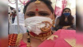 महिला ने शादी में मास्क के ऊपर पहना गहना, लोग बोले 'वाह, क्या जुगाड़ है', तस्वीर Viral