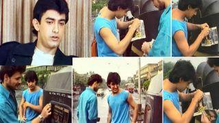 Qayamat Se Qayamat Tak: Young Aamir Khan Sticks Film's Poster on Autos in Old Video | Watch