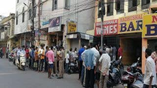 Hyderabad Liquor Shops See Mad Rush Minutes After Telangana Lockdown Announcement